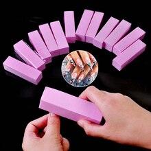 1 sztuk różowy kształt polerka do paznokci plik do żelu UV biały pilnik do paznokci poduszka blok manicure polerowanie pedicure paznokci szlifierka narzędzia artystyczne