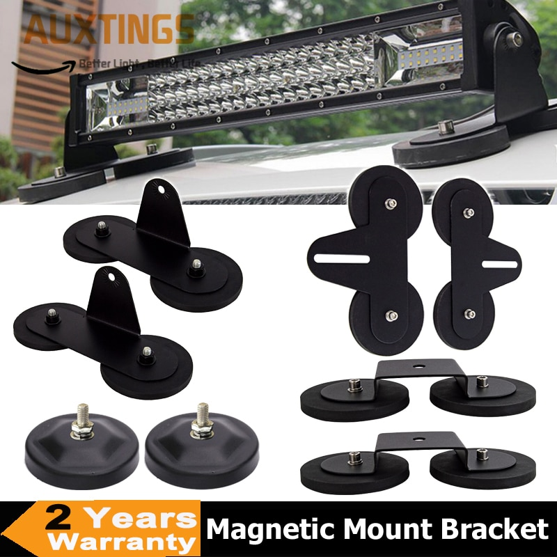 2pcs Universal Powerful Strong Magnetic Base Mounting Bracket LED Work Light Bar Holder For Offroad