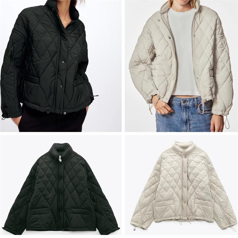 MESTTRAF موضة 2021 للنساء مع جيب فضفاض Argyle مبطن سترات معطف طويل الأكمام الوقوف طوق للطي مقنعين ملابس خارجية