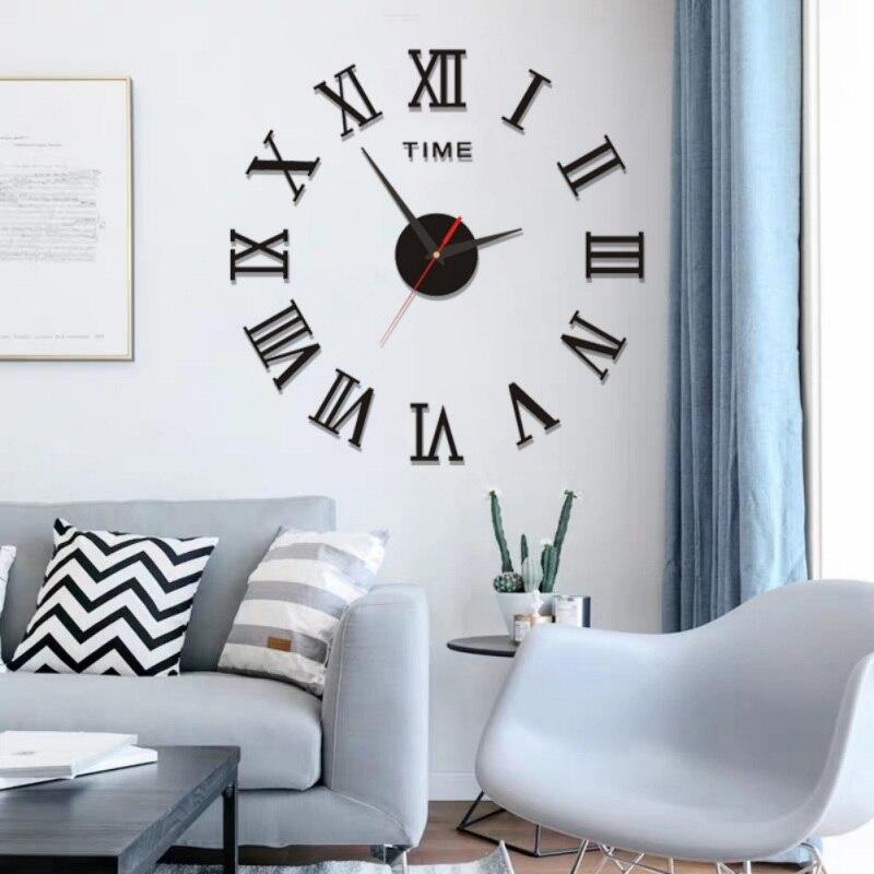 DIY decoración/moderno 3D DIY números romanos espejo superficie pared reloj pegatina hogar Oficina habitación 2020 droshipping SK1