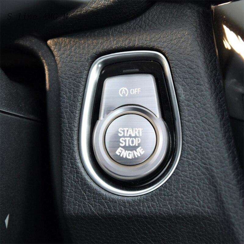 Estilo do carro para bmw m2 m3 m4 botões de partida do motor substituir tampas stop switch acessórios chave decoração quadro auto interior adesivos