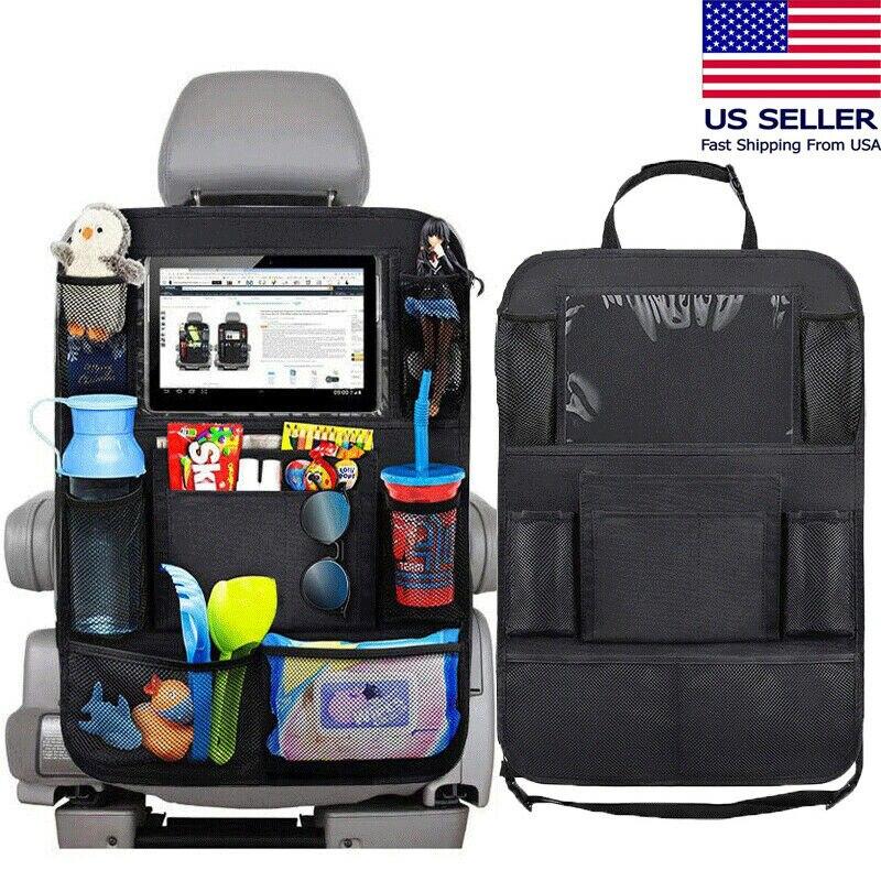 Nueva moda negro Auto asiento trasero Multi-Bolsillo bolsa de almacenamiento organizador titular accesorio