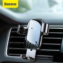 Baseus Металл Автомобильный держатель для телефона на магните гравитационная Автоматическая автомобильная подставка крепление, устанавливаемое на вентиляционное отверстие в салоне автомобиля мобильный телефон держатель для iPhone Xiaomi универсальный держатель