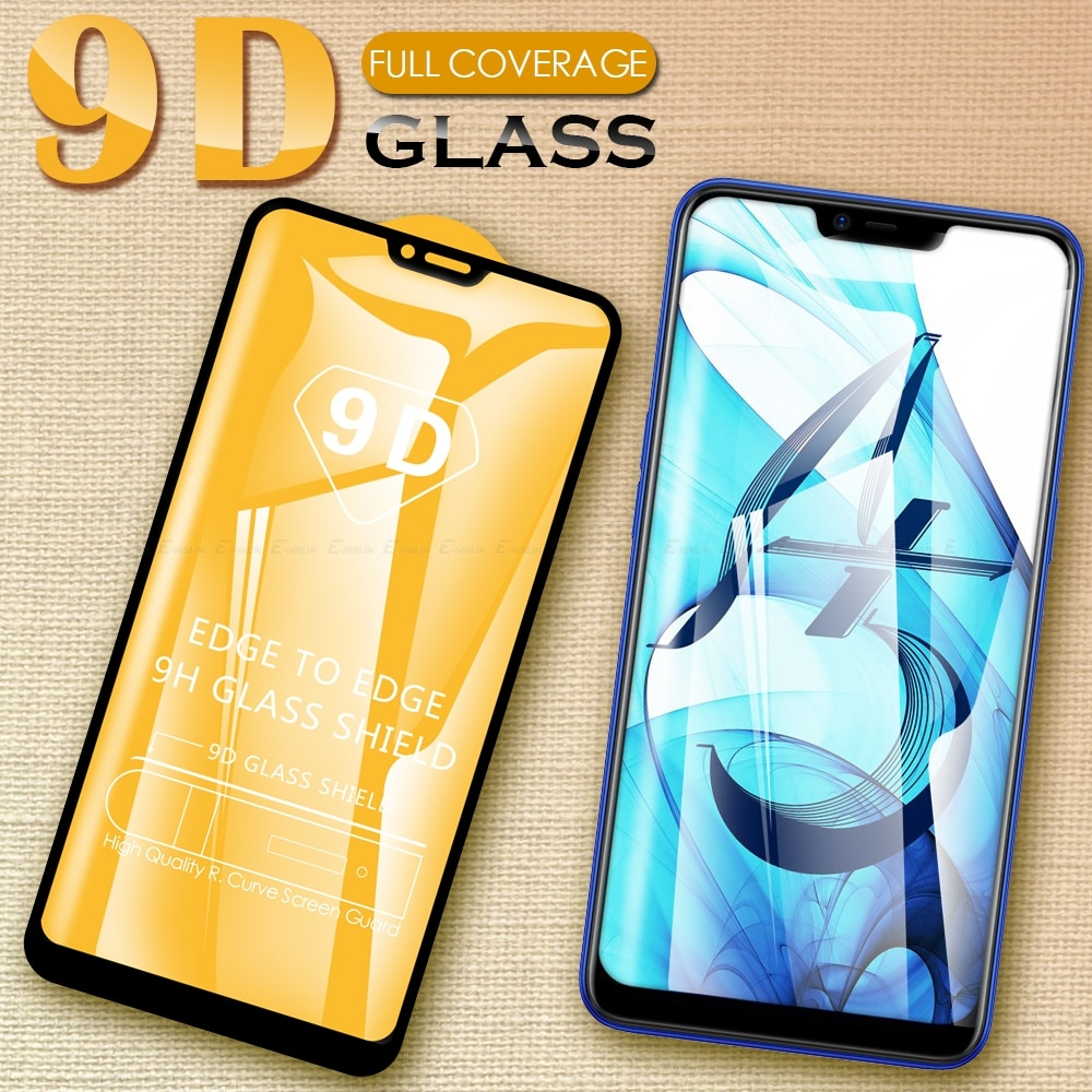 9D completa de la cubierta de Protector de pantalla de cristal templado de cine para Oppo A31 A91 A73 A9 A5 2020 A7 A5s A5 A3s a83 A75 A52 A92 A11 2019
