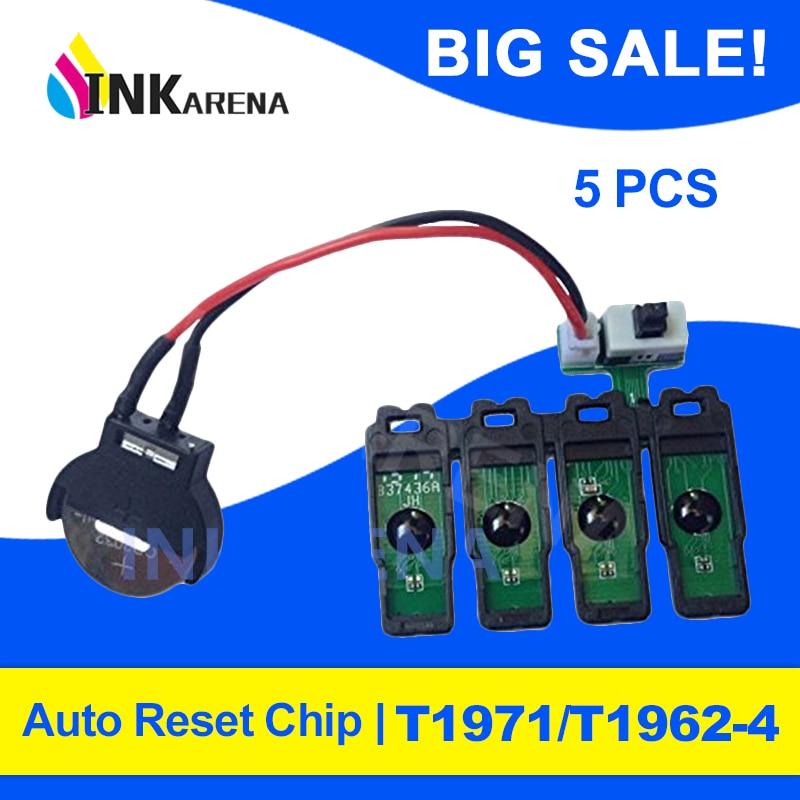 INKARENA 5PCS T1971 XL T1962 T1963 T1964 CISS Chips Combo Para Epson XP-201 XP-211 XP-204 XP-401 XP-411 XP-214 XP-101 WF-2532