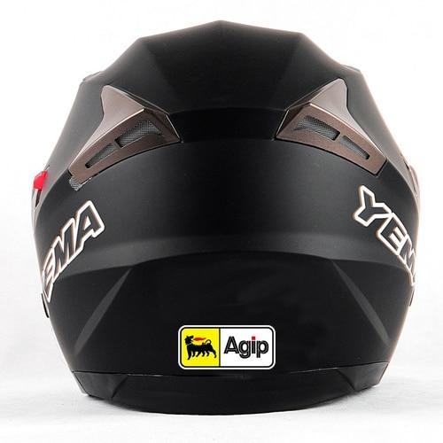 Etiqueta engomada DIY para casco de motocicleta bici, etiqueta engomada del vinilo del estilo del coche para el aceite italiano Agip