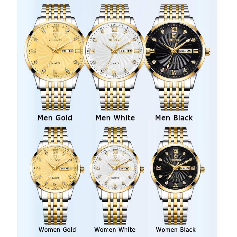 Relógios de Quartzo para o Casal Panars Pequenos Grandes Relógio Masculino Mulher 2021 Rosa Ouro Valentine Apresenta Aço Inoxidável &