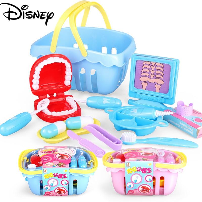 conjunto de cesta de dentista com simulacao de criancas da disney original brinquedo