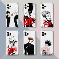 hunter x hunter hisoka phone case transparent for iphone 12 11 pro mini xs xr x max 5 6 s 7 8 plus soft tpu clear mobile bags