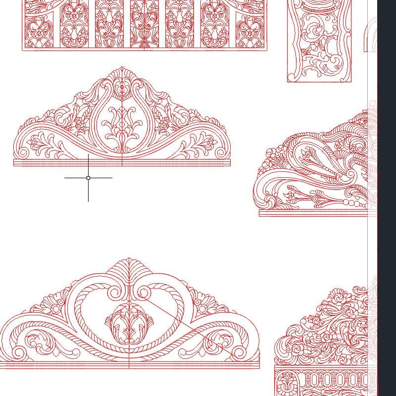 رسومات تصميم لوحة السرير ، تنسيق 2D DXF ، AutoCAD لجهاز التوجيه CNC ، نقش الملفات الخشبية ، 1000 قطعة