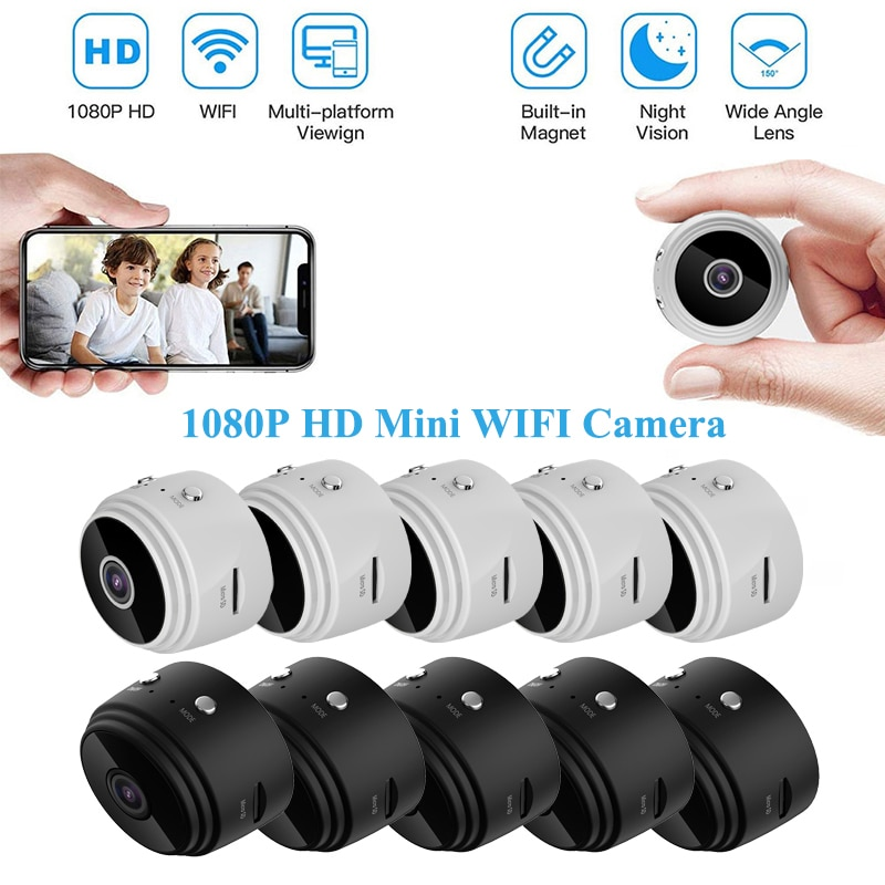 1/2/3/4/5Set 1080P HD Mini IP Wireless WIFI Camera Camcorder Smart Home Security DVR Night,Go Out,An