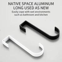 space aluminum kitchen cabinet door back hook key holder radiator hook towels clothes rack kitchen organizer bathroom accesories