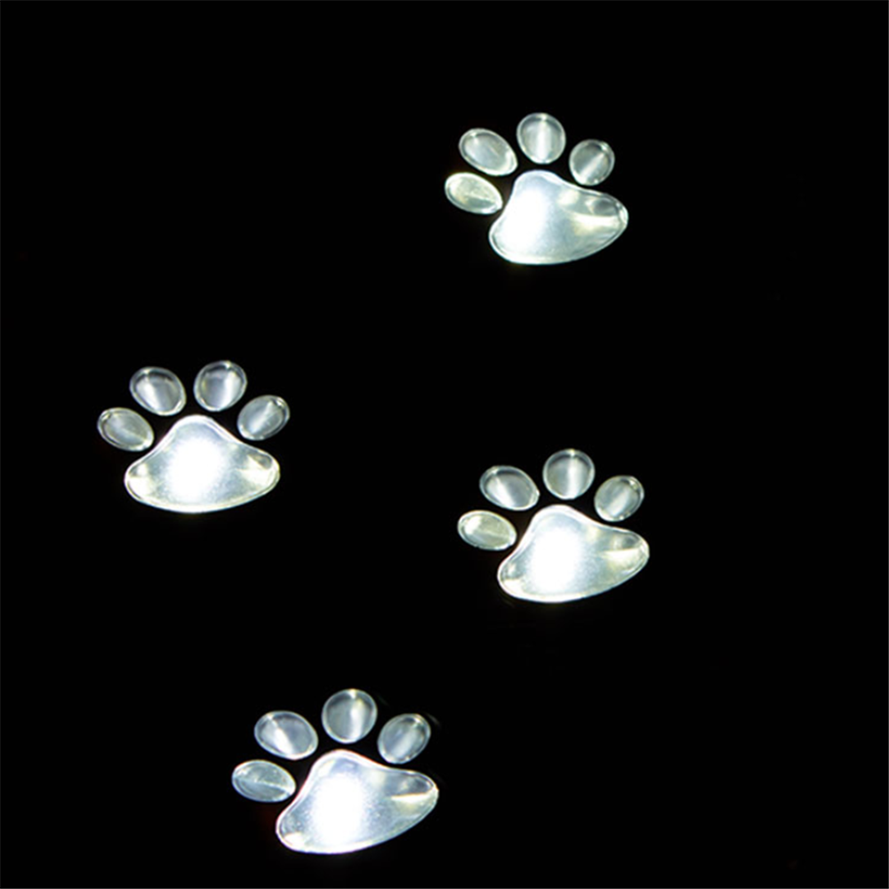 4 باو طباعة أضواء الشمسية مسار الكلب LED لطيف الحديقة حديقة فناء الفناء الخلفي ديكور الممر مسار الإضاءة مصابيح حديقة في الهواء الطلق