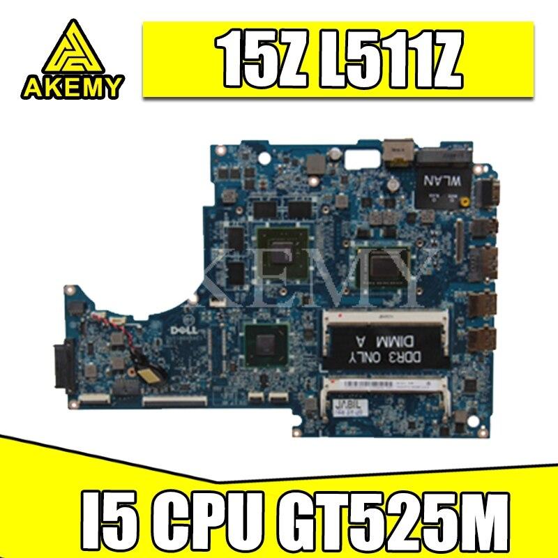 I5 cpu para For DELL xps 15z l511z computador portátil placa-mãe dass8bmbae1 rev: e gt525m mainboard computador portátil