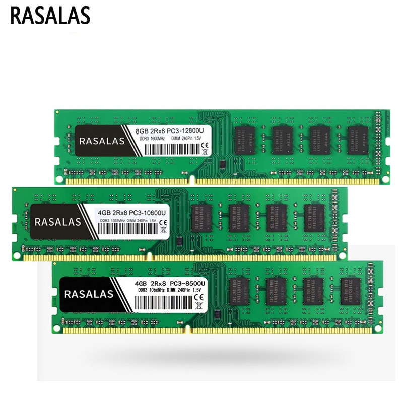 Rasalas escritorio Memoria RAM DDR3 1066, 1333, 1600Mhz 8500 de 10600 de...
