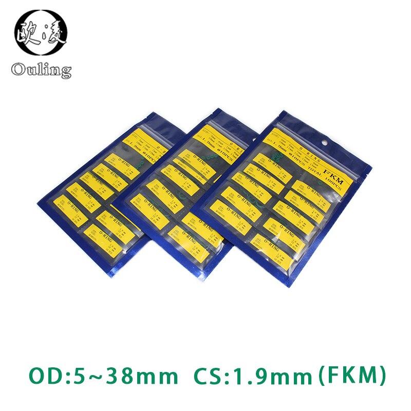 CS1.9mm OD5/6/7/8/9/10/11/12/13/14/15/16/17/18/19/20/21/22/23/24/25/26/27/28/29/30/31/32/33/34/35/36/37/38*1.9mm anel de vedação fkm