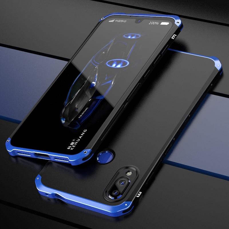 Funda de lujo a prueba de golpes para Xiaomi Redmi Note 7 Pro, funda delgada de aluminio duro e híbrida para Xiaomi Redmi Note 7 6 PRO, funda
