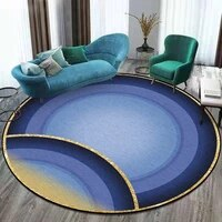 dark blue round carpet geometry pattern home rugs for living room non slip bedroom hanging basket chair area mat rug polyester