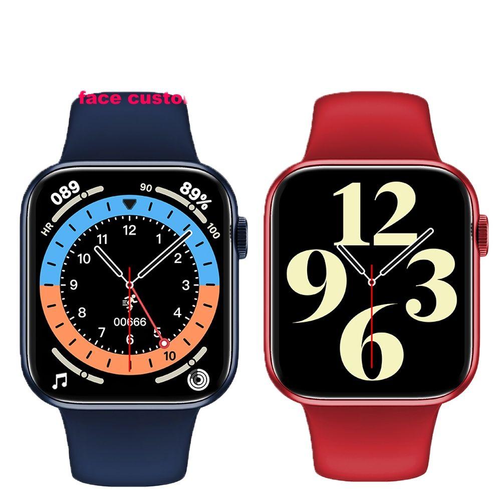 Review 5pcs HW16 44mm Men Smart Watch Series6 Full Screen Bluetooth Call Music control Play Women Sport Smartwatch VS IWO12 W46 W26