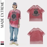 madeextreme tie dyed oversized t shirt men hip hop t shirt streetwear harajuku summer short sleeve tshirt loose tops tees 2206