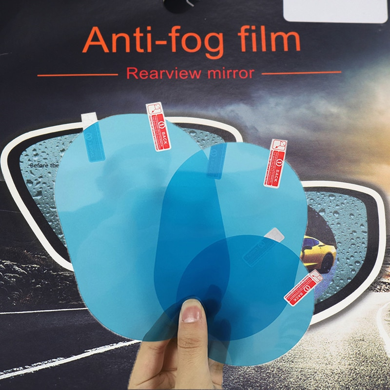 2 Pcs/set Rearview Mirror Rainproof Film Anti-fog Protective Film Rearview Mirror Transparent Protec