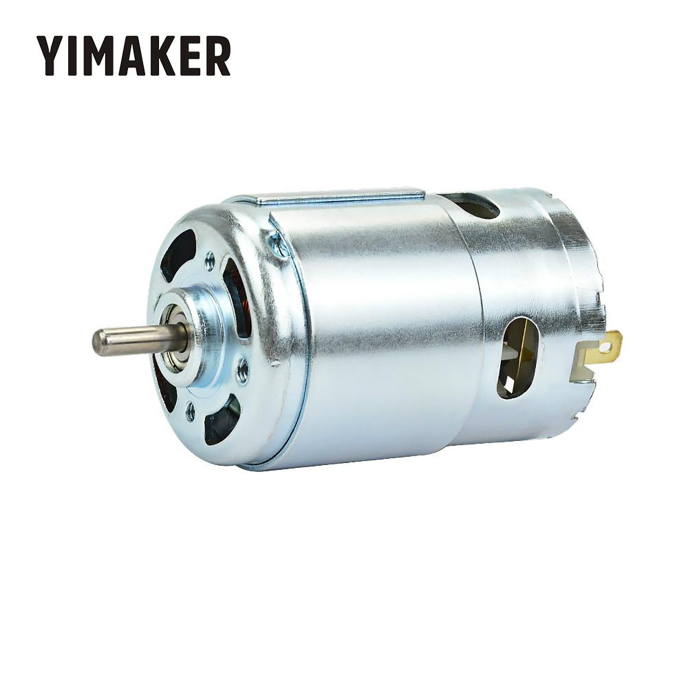 YIMAKER  Micro 895 Motor DC12-24V High Power Generator 15A 360W 12000rpm Double Ball Bearing 775 Upgrade DC Motor Large Torque