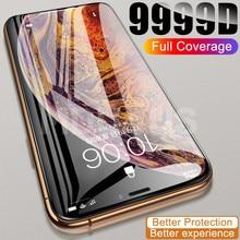 9999D vetro a copertura totale per iPhone 11 12 Pro XS Max X XR 12 mini pellicola proteggi schermo iPhone 8 7 6 6S Plus custodia in vetro temperato