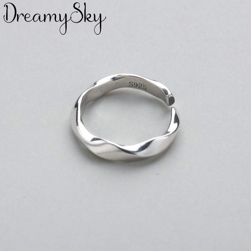 Женские Асимметричные круглые кольца DreamySky, богемные винтажные открытые кольца на палец серебристого цвета, рождественские подарки