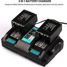 Dual Replacement Battery Charger For Makita 14.4V 18V BL1830 Bl1430 DC18RC DC18RA Li-Ion US EU Plug