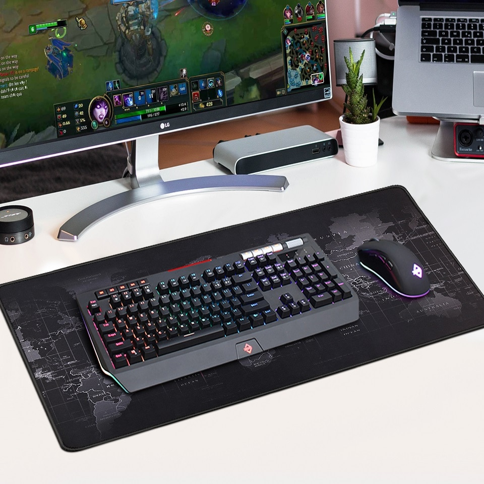 Gaming Mouse Pad Large Mouse Pad Gamer Big Mouse Mat For PC Computer Mousepad XXL Carpet Surface Mause Pad Keyboard Desk Mat enlarge