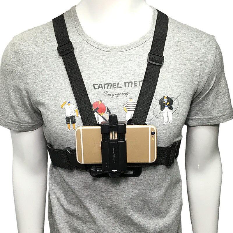Suporte ajustável do grampo do telefone móvel suporte da correia do chicote de fios da montagem da caixa do telefone celular clipe da câmera da ação para o iphone