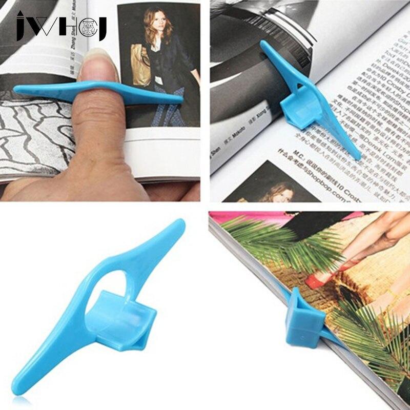 Soporte práctico y multifuncional para libro de pulgar, soporte para marcapáginas, Marcadores de libro de anillo para dedo para libros de papelería, Glits