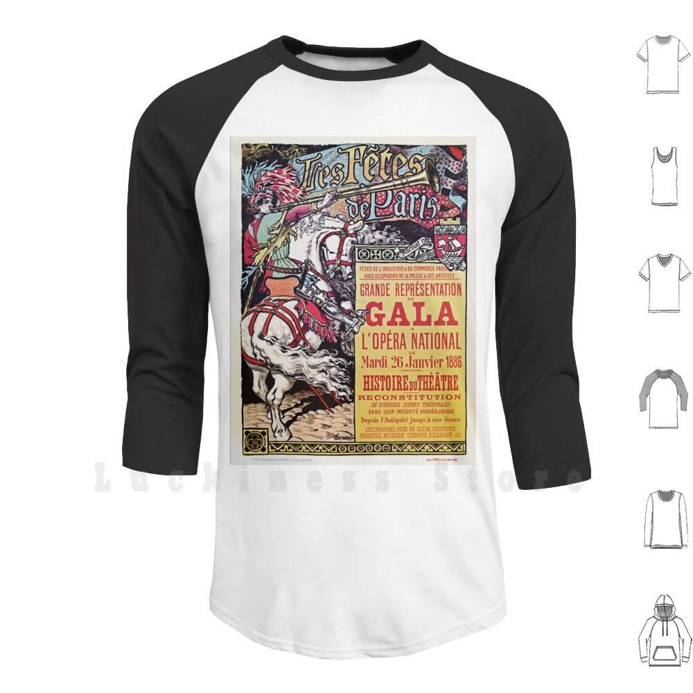 French National Opera Medieval Style Vintage Gala Ad hoodies long sleeve Vintage History French National Opera Theatre