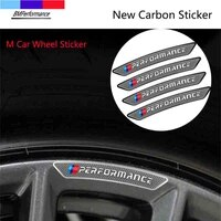 4pcs new carbon fiber m power car wheel sticker for bmw f47 f25 f97 f26 f15 f85 f16 f86 m3 m4 m5 x3 x4 x5 x6 x2 x7 g07 m3 m4 m5