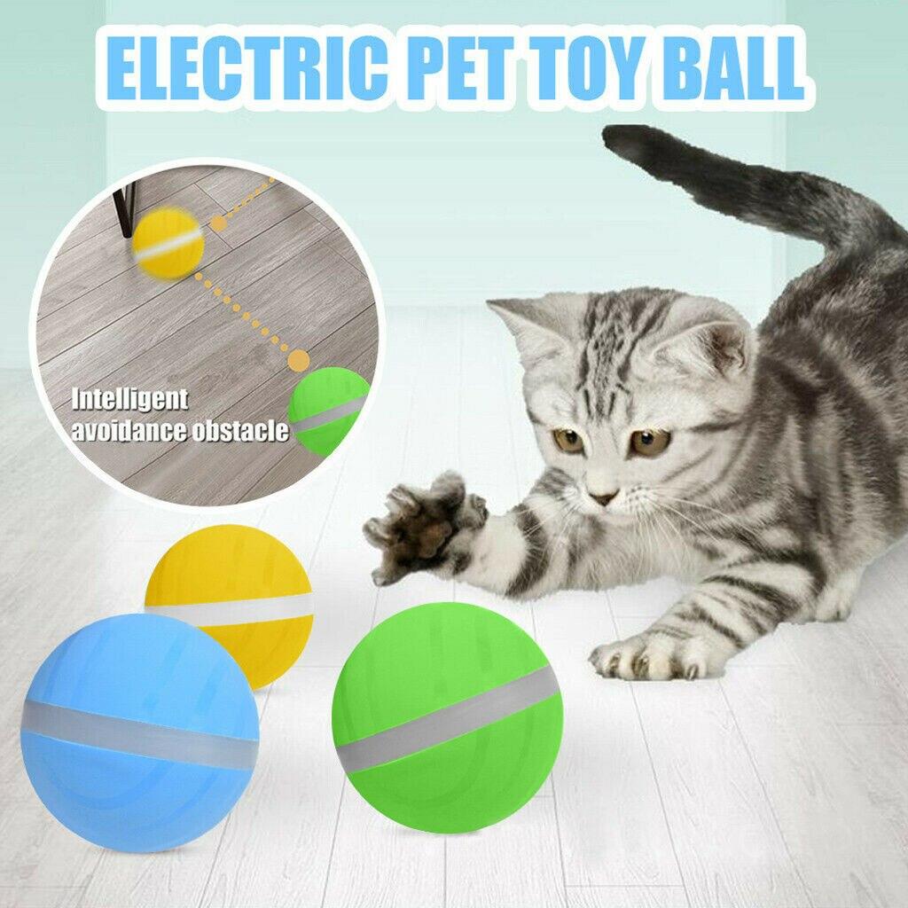 LED Auto Rolling Flash Ball juguete entretenido bola malvada la alegría del animal doméstico cuando está solo en casa mascota interactiva juguete de bola de salto para mascotas gato