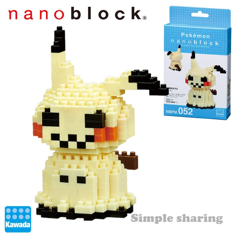 Nanoblock Pokemon Pikachu NBPM_052 MIMIKKYU Kawada 210 Uds dibujos animados diamante mini micro bloques de construcción ladrillos Juguetes