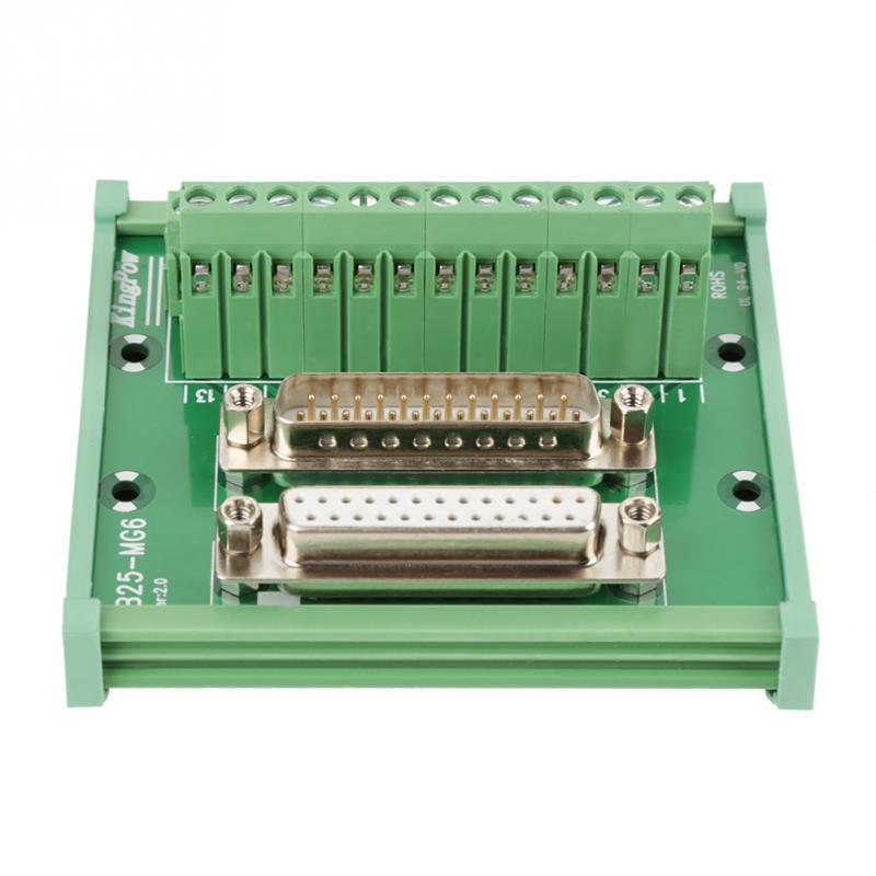 DB25 d-sub macho y hembra tablero de cabecera tablero Terminal DIN Rail montaje módulo de interfaz