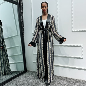Siskakia Africa Abaya Dubai Bangladesh Islam Open Abayas Women Cardigan Muslim Jubah Dress Kaftan Turkey Islamic Clothes Ramadan