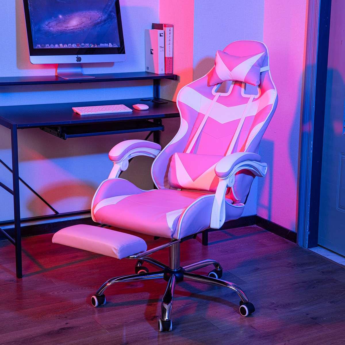 الألعاب الكراسي كرسي مكتب 150 درجة مستلق كرسي الكمبيوتر مريح التنفيذي الكمبيوتر الجلوس المتسابق كرسي بولي Leather الجلود