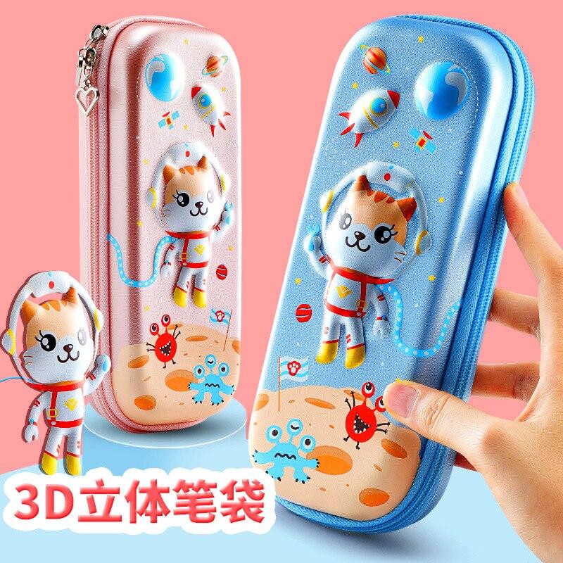 Pencil case for boys and girls, cartoon cute pencil-case, large capacity waterproof pencil-case, children's pencil-case