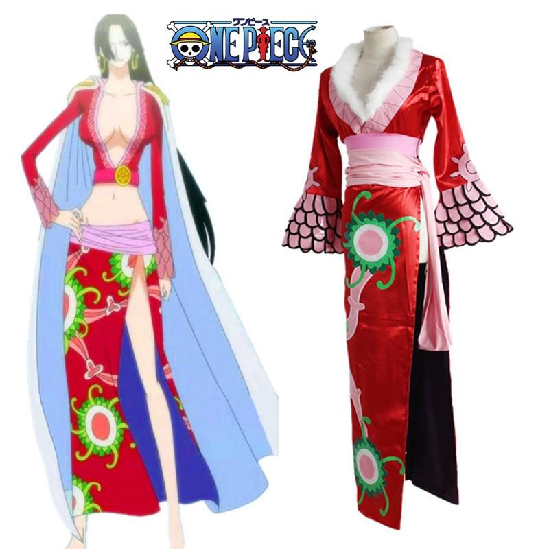 Anime One Piece Boa Hancock cosplay costume Boa Hancock One Piece cosplay costume Halloween costumes Sexy women Cheongsam Dress