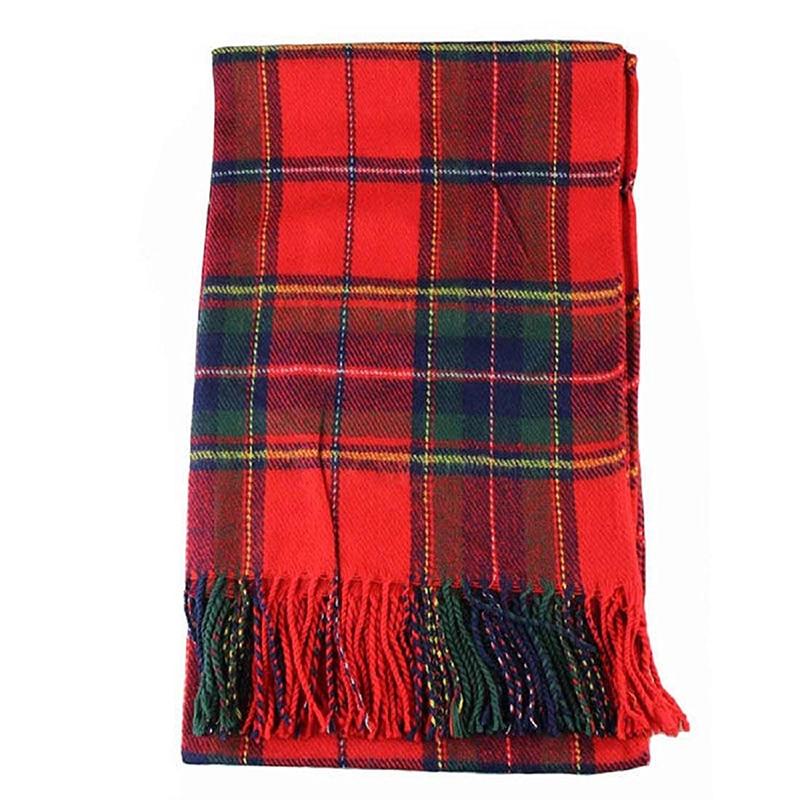 New Women Winter Infinity Blanket Oversized Shawl Plaid Check Tartan Scarf Wrap