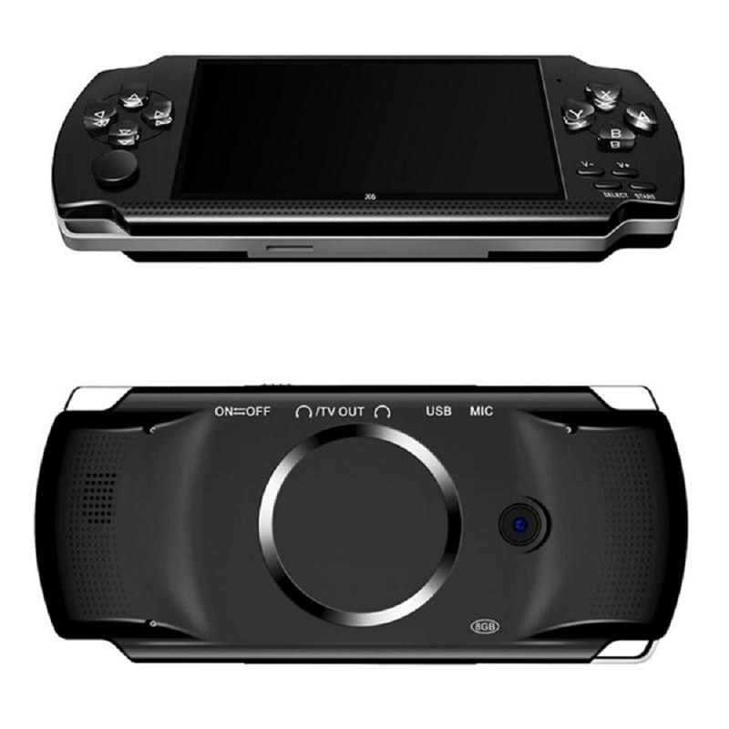 4.3-inch Screen Game Console For PSP Game Console Handheld Game Players 8G Built-in 10,000 Games Support 8/16/32/64/128 Bit Game