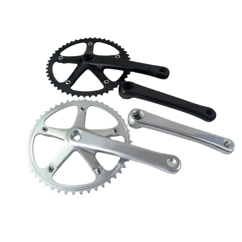 49T Fixed Gear Bike Crankset Single Speed Integrated Crank Set Chain Wheel Tooth Plate Sprocket Bike Accessories