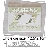 2020 new cutting dies making scrapbook greeting card edge lace hollow border metal cutting dies stencil frame embossing template