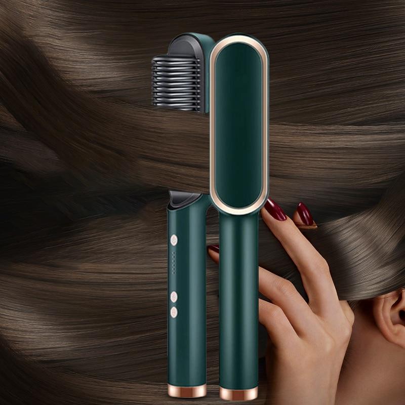 Professional Hair Straightener Temperature Adjustment Ionic Brush Straighteners Hot Comb Curling Iron Hair Curler For Women Hair enlarge