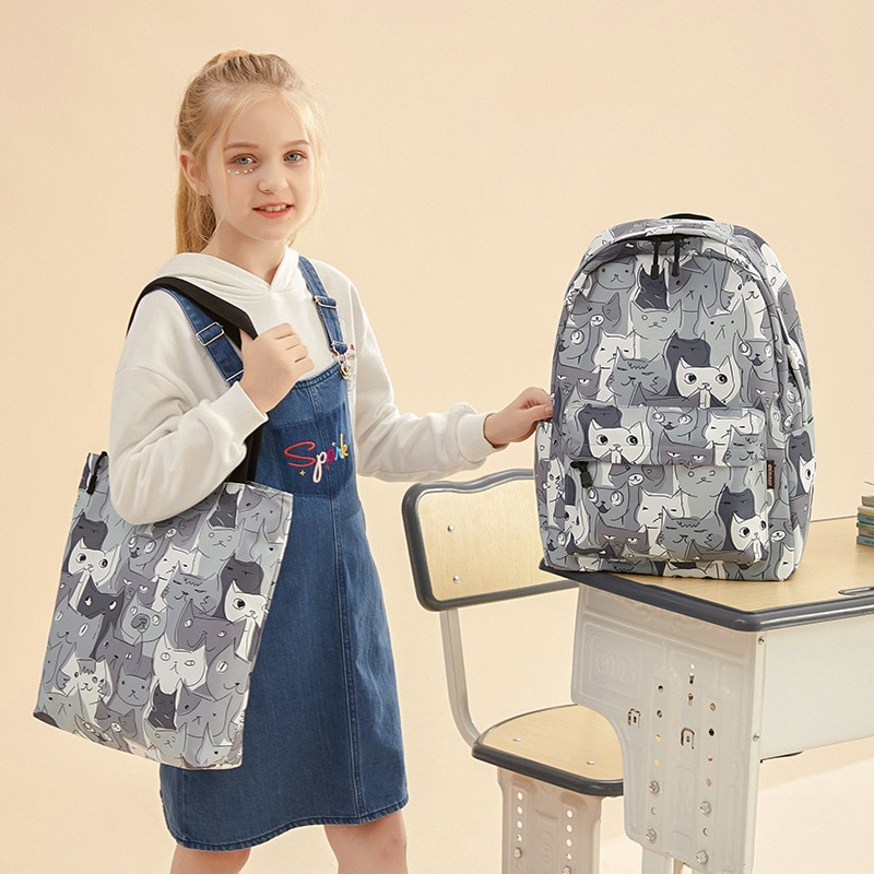 Kawaii Schoolbags for Children 2021 Canvas Travel Backpack Student notebook Bookbags Schoolbag