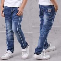 ienens kids boys jeans fashion clothes classic pants denim clothing children baby boy casual bowboy long trousers 5 13y
