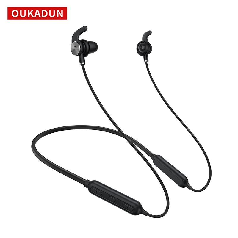 Wireless Bluetooth Headset, ANC Active Noise Reduction Sports Neck-mounted Headset, Universal for Apple and Android Phones