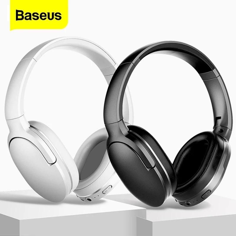 Baseus D02 برو سماعات لاسلكية الرياضة سماعات مع كابل الصوت آيفون اللوحي المحمول سماعة الأذن براعم